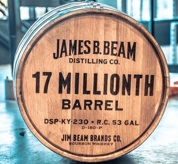 Jim Beam Fills 17 Millionth Barrel of Bourbon